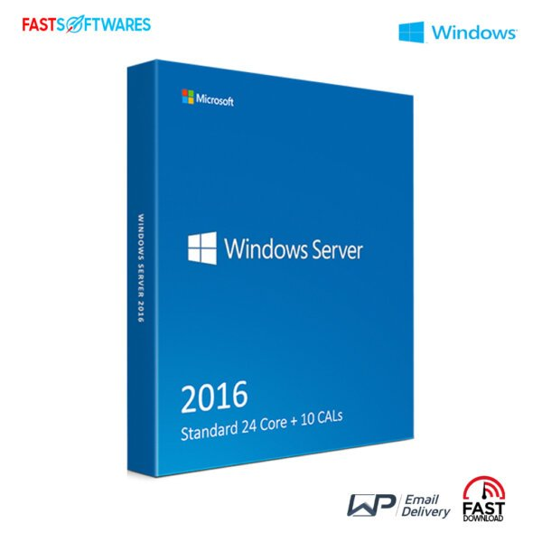 Microsoft Windows Server 2016 Standard 24 Core + 10 CALs
