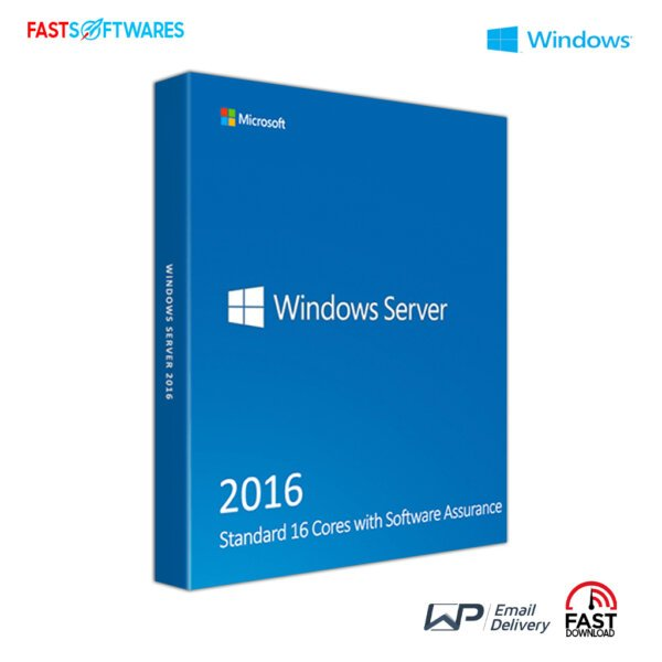 Windows Server 2016 Standard 16 Cores with Software Assurance