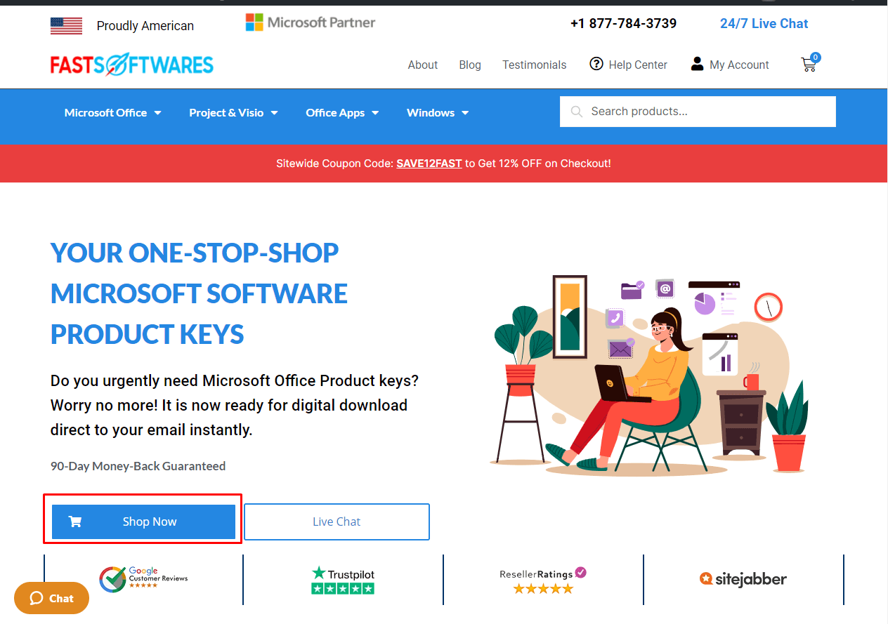 shop from FastSoftwares the best place to buy Microsoft Software Keys online